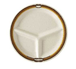 "GET CP-10-RD 10.25"" Diamond Rodeo Plastic Plate w/ 3-Compartments"