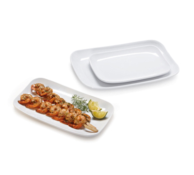GET CS-6104-W Rectangular Break Resistant Platter, Melamine, White, 10x6