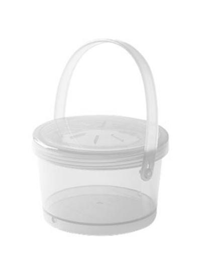 Get EC-07-1-CL 12-oz Eco Takeouts Soup Container w/ Lid & Handle, Clear Plastic