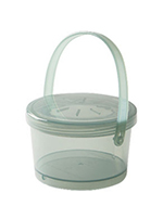 GET EC-07-1-JA 12-oz Eco Takeouts Soup Container w/ Lid & Handle, Jade