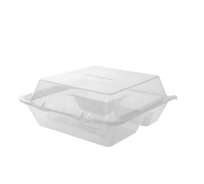 Get EC-01-1-CL Eco Takeouts Food Container w/ 3-Compartments, Clear Polypropylene