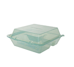 Get EC-01-1-JA Eco Takeouts Food Container w/ 3-Compartments, Jade Polypropylene
