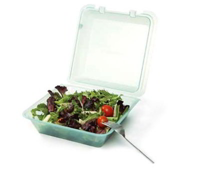 GET EC-02-1-JA Eco Takeouts Food Container w/ 1-Compartment, Jade Polypropylene