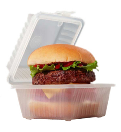 "GET EC-08-1-CL Eco Takeouts Food Container w/ 1-Compartment, 3.25"" Deep, Clear Plastic"