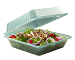 "Get EC-10-1-CL Eco Takeouts Food Container w/ 1-Compartment, 3.5"" Deep, Clear Plastic"