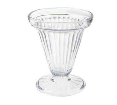 GET ICM-25-CL 6-oz Dessert Time Ice Cream Cup, Clear Plastic