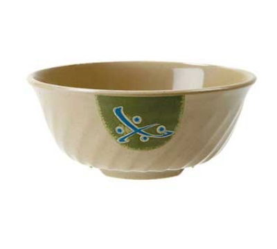 Get M-607-TD Traditional Melamine Bowl w/ Fluted Edges & 1-qt Capacity