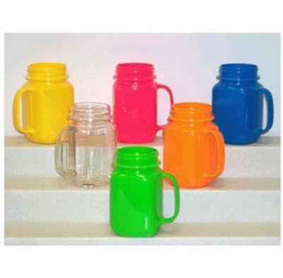GET MAS-3-PI 16-oz Mason Jar, Pink Polycarbonate