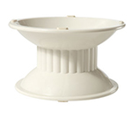 "GET ML-106-IV Melamine Pedestal w/ Rubber Feet, 6.9 x 6.3 x 4"" High, Ivory"