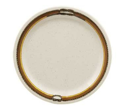 "GET NP-6-RD 6.5"" Diamond Rodeo Plate w/ Narrow Rim, Melamine"