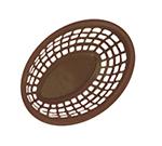 "GET OB-938-BR Oval Bread & Bun Basket, 9-3/8 x 6 x 1-7/8"", Brown Polypropylene"