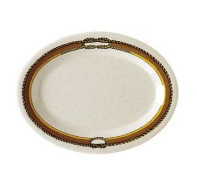 GET OP-120-RD Oval Diamond Rodeo Melamine Platter, 12 x 9