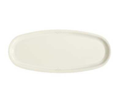 """GET OP-2410-IV 24"""" Oval Sonoma Platter, Melamine, Ivory"""