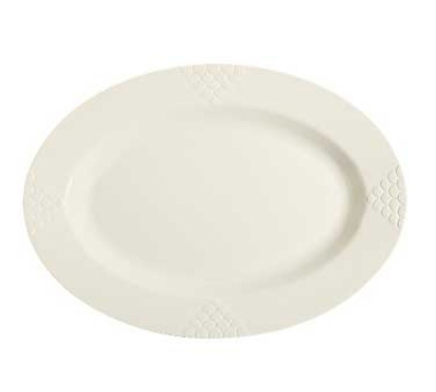 """Get OP-630-IV 30"""" Oval Sonoma Platter, Melamine, Ivory"""