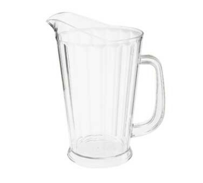 "GET P-1064-CL 60-oz Beer Pitcher, 9"" Tall, Clear Plastic"