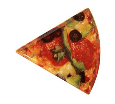 "GET PZ-86-PZ Mama Mia Triangle Pizza Plate, 10.25 x 9"", Melam"