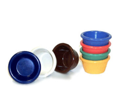 Get RM-387-BR 2-oz Fluted Cone Shaped Ramekin, Brown Melamine