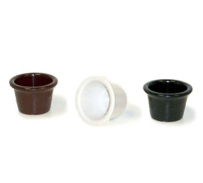 "Get S-610-BR 1.5-oz Plain Cone Shaped Ramekin, 2.25"" Diameter, Brown Melamine"