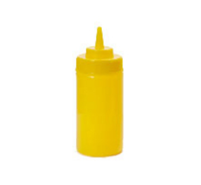 Get SB-12-Y 12-oz Squeeze Bottle w/ Lid & Wide Mouth, Yellow