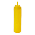 GET SB-24-Y 24-oz Squeeze Bottle w/ Lid & Wide Mouth, Yellow