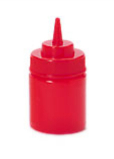 GET SB-8-R 8-oz Squeeze Bottle w/ Lid & Wide Mouth, Red