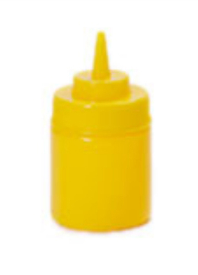 GET SB-8-Y 8-oz Squeeze Bottle w/ Lid & Wide Mouth, Yellow