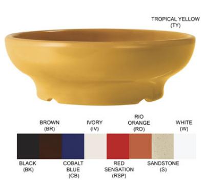 "GET SD-06-BR 4.5"" Viva Mexico Salsa Plastic Dish w/ 6-oz Capacity, Brown"