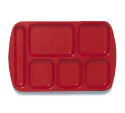 Get TL-151-R Left Handed School Tray w/ 6-Compartments, Red
