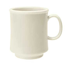 GET TM-1308-IV 8-oz Diamond Ivory Stacking Mug, Plastic