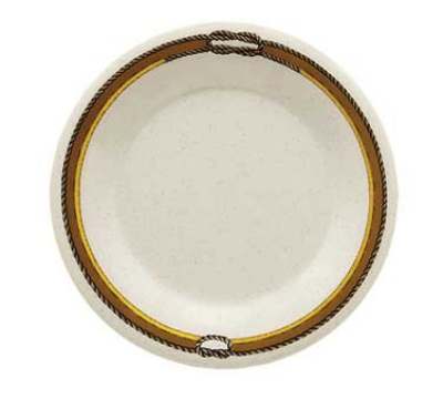 "GET WP-12-RD 12"" Diamond Rodeo Melamine Plate w/ Wide Rim"