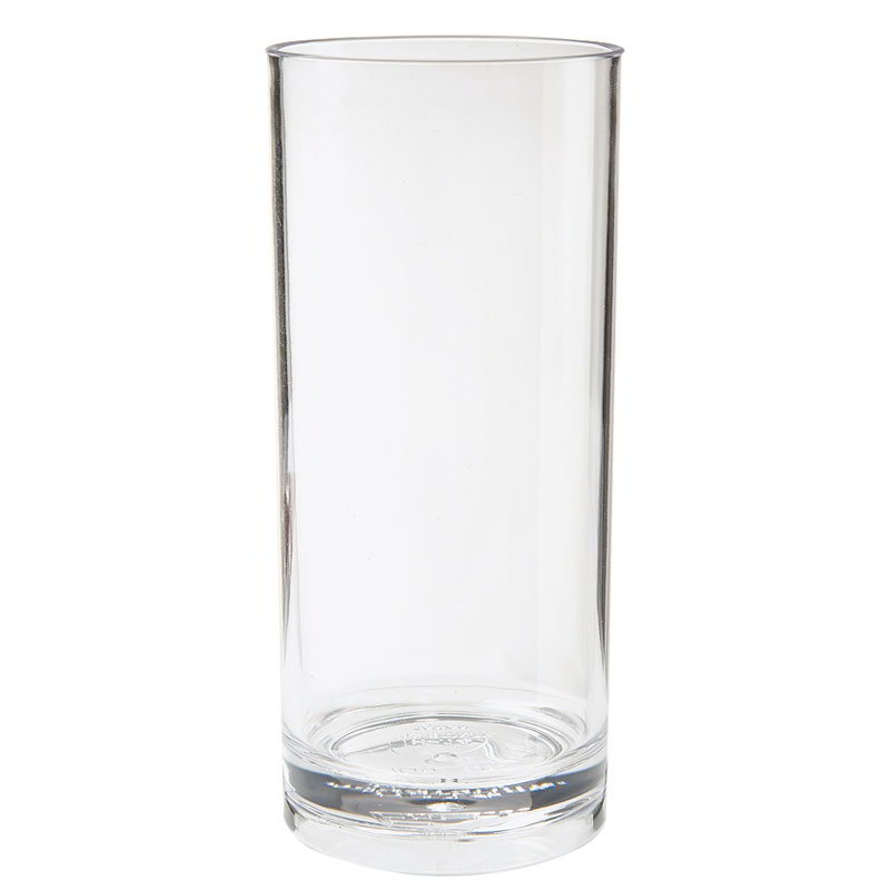 "GET H-14-1-SAN-CL 14-oz Tom Collins Glass, 2.5"" Diameter x 7"" Tall, Clear Plastic"
