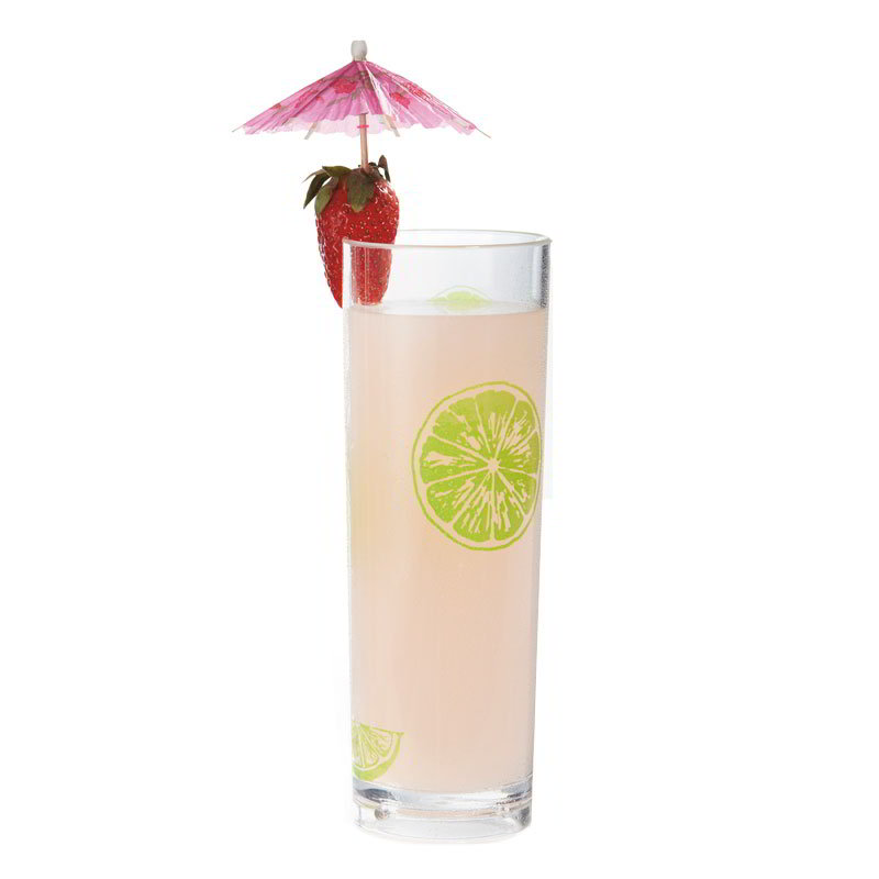 "GET H-14-1-SAN-KL 14-oz Tom Collins Glass, 2.5"" Diameter x 7"" Tall, Keylime Plastic"