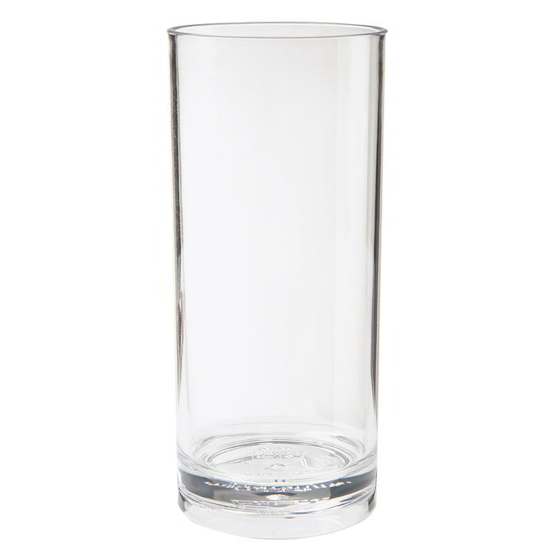 "GET H-9-1-SAN-CL 9-oz Hi Ball Glass, 2.5"" Diameter x 5.25"" Tall, Clear Plastic"