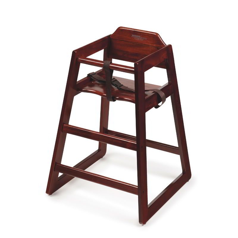GET HC-100M-KD Commercial Hardwood High Chair, Mahogany
