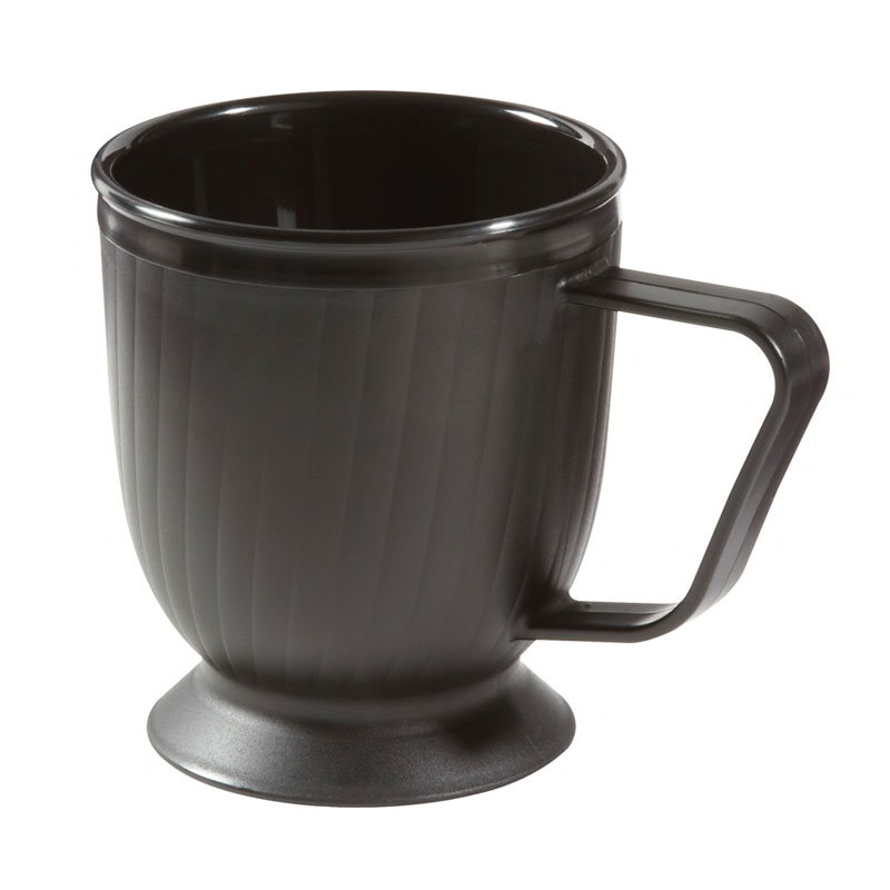 "GET HCR-95-BK 8-oz Healthcare Mug, 3-1/2"" Insulated, Polypropylene, Black"
