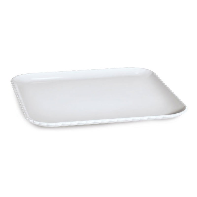 "GET HI-2009-W 12"" Square Dinner Plate, Polycarbonate, White"