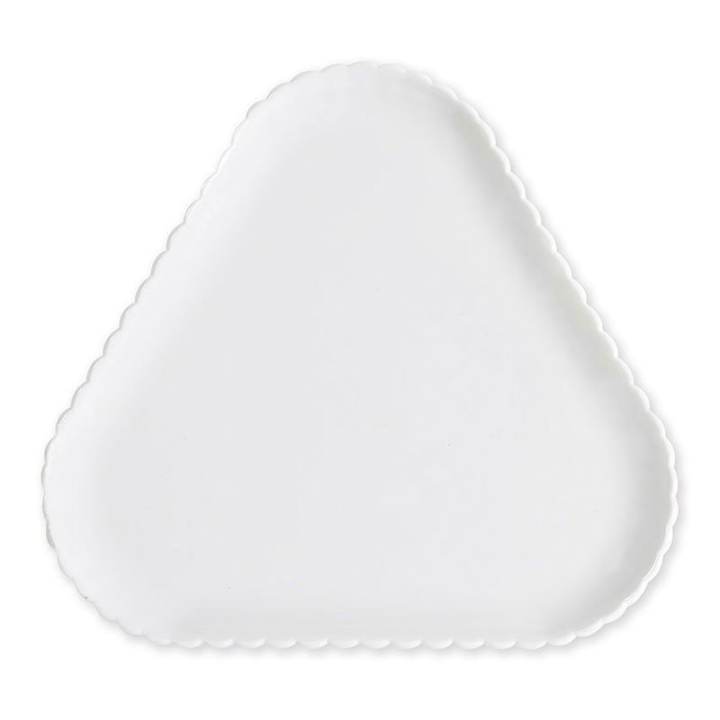 "GET HI-2011-W 12""Platter, Triangular, Polycarbonate, White"