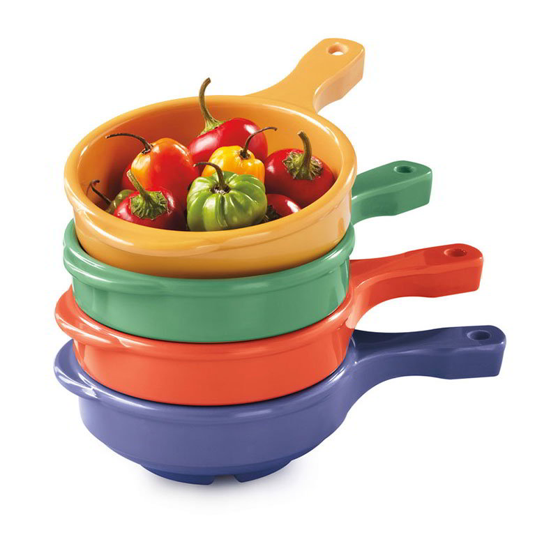 GET HSB-112-MIX 12-oz Soup Bowl w/Handle, Melamine, Mix