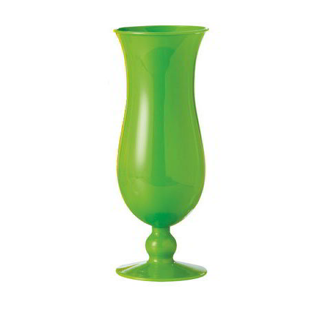 "GET HUR-1-PC-G 15-oz Hurricane Glass, 8"" Tall, Green Polycarbonate"