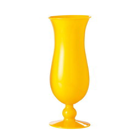 "GET HUR-1-PC-Y 15-oz Hurricane Glass, 8"" Tall, Yellow Polycarbonate"