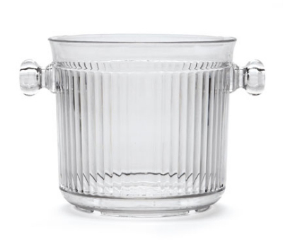 Get HI-2015-CL 2.5 Qt. Ice Bucket, Polycarbonate, Clear Plastic