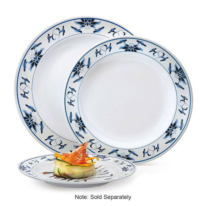 "GET KT-415-B 12""Dinner Plate, Melamine, Dynasty Water Lily"
