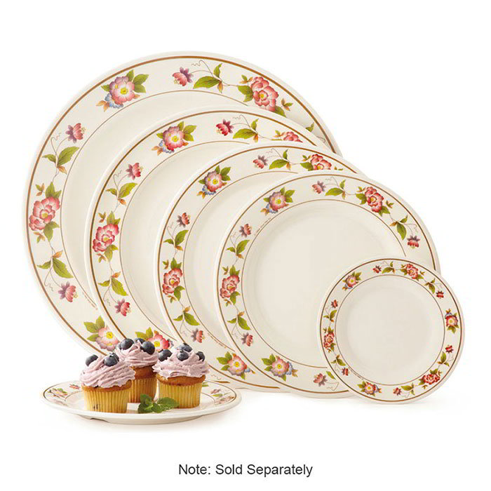 "GET KT-415-TR 12""Dinner Plate, Melamine, Dynasty Tea Rose"