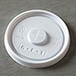 GET LID-22091/22121 Disposable Lid For 9 oz And 12 oz Tumbler, White