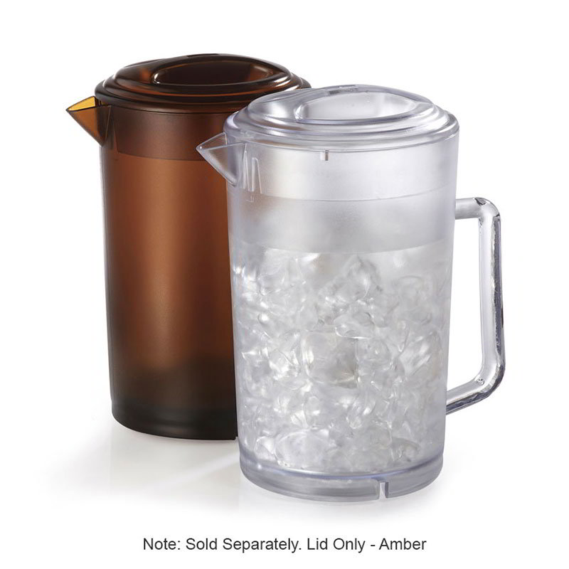 GET LID-3064-1-A Lid For P-3064 Pitchers, Amber Plastic