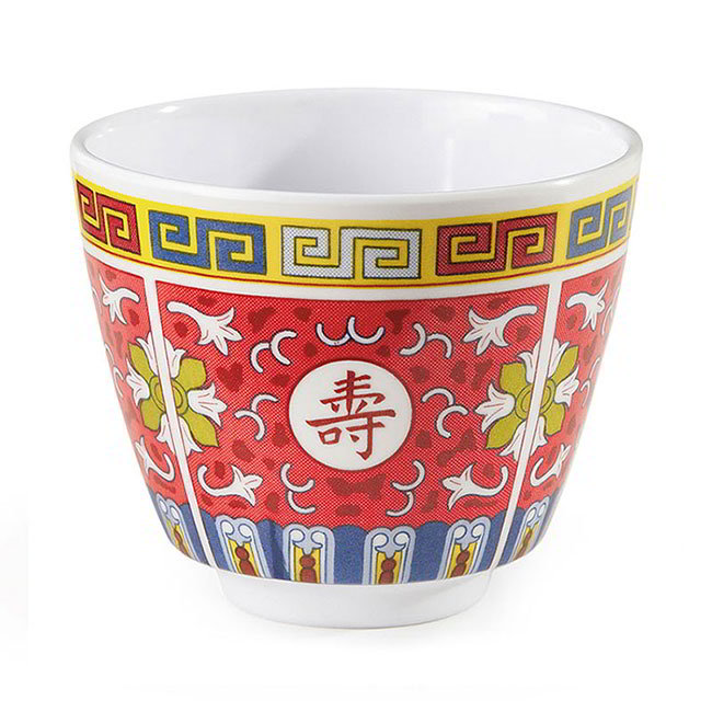 GET M-077C-L 5-1/2-oz Teacup, Melamine, Dynasty Longevity