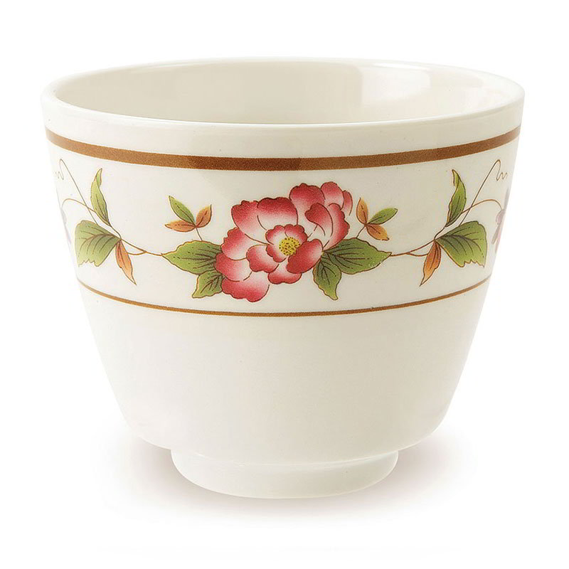 GET M-077C-TR 5-1/2-oz Teacup, Melamine, Dynasty Tea Rose
