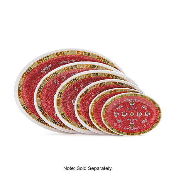 "GET M-4010-L 16""x 12""Oval Platter, Melamine, Dynasty Longevity"