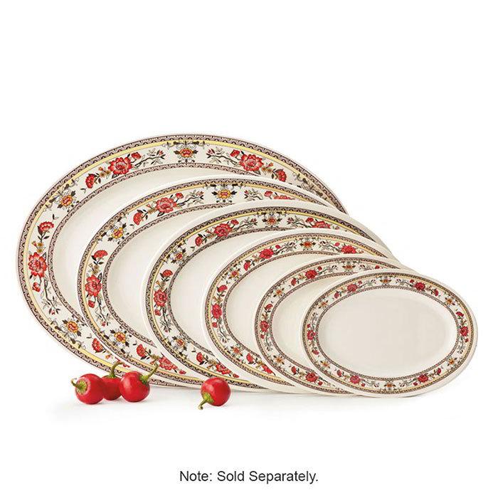 "GET M-4040-CG 10""x 7""Oval Platter, Melamine, Dynasty Garden"