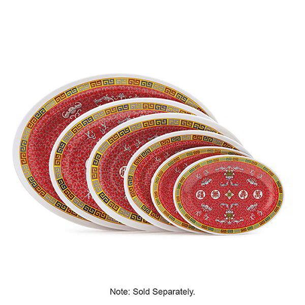 "GET M-408-L 8""Oval Platter, Melamine, Dynasty Longevity"